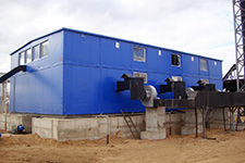 Boiler houses with fuel tank farm construction